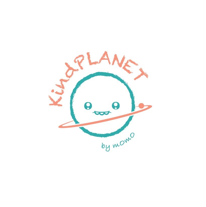 Logotipo para proyecto editorial de MOMO Ilustraciones, KindPLANET. 1