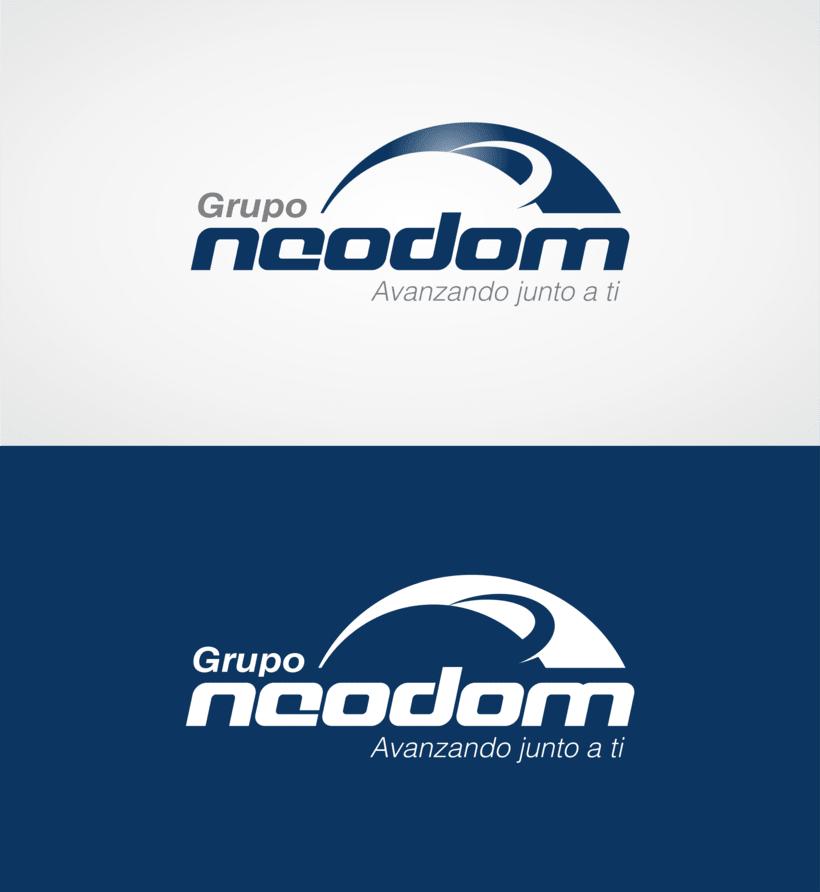 Grupo Neodom, logotipo para empresa de importación y multiservicios. -1