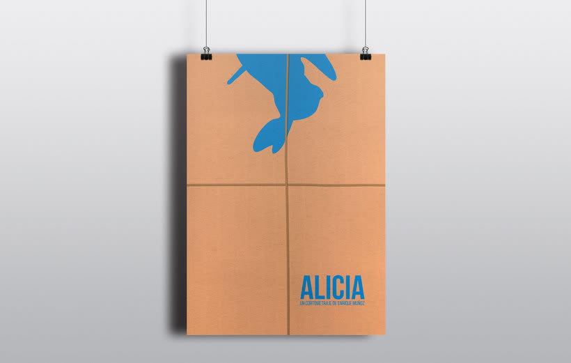 """Diseño de cartel y gráfica para el cortometraje """"Alicia"""" 2"""