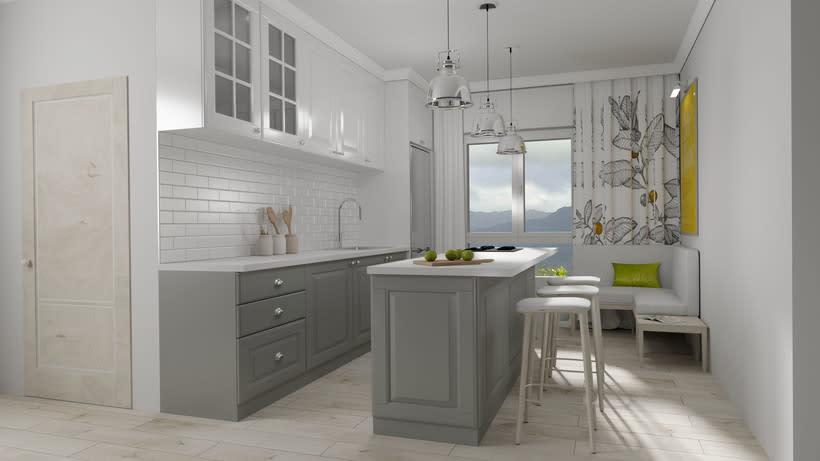 Infografías 3D e Interiores de Cocina en Las Palmas de Gran Canaria -1