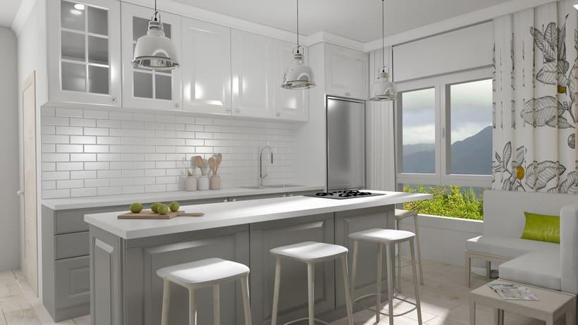 Infograf as 3d e interiores de cocina en las palmas de gran canaria domestika - Curso de cocina las palmas ...