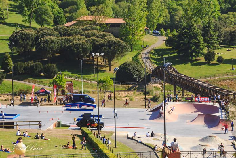 Inauguracion del skatepark del parque de invierno  de Oviedo 2017, Asturias 2
