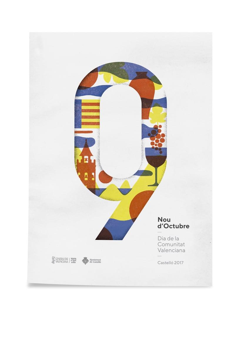 Diseño de los 4 carteles que conmemoran el 9 d'Octubre por Bestiola & Malota: Generalitat y variaciones para las 3 provincias. Esperamos que os gusten. <3 0