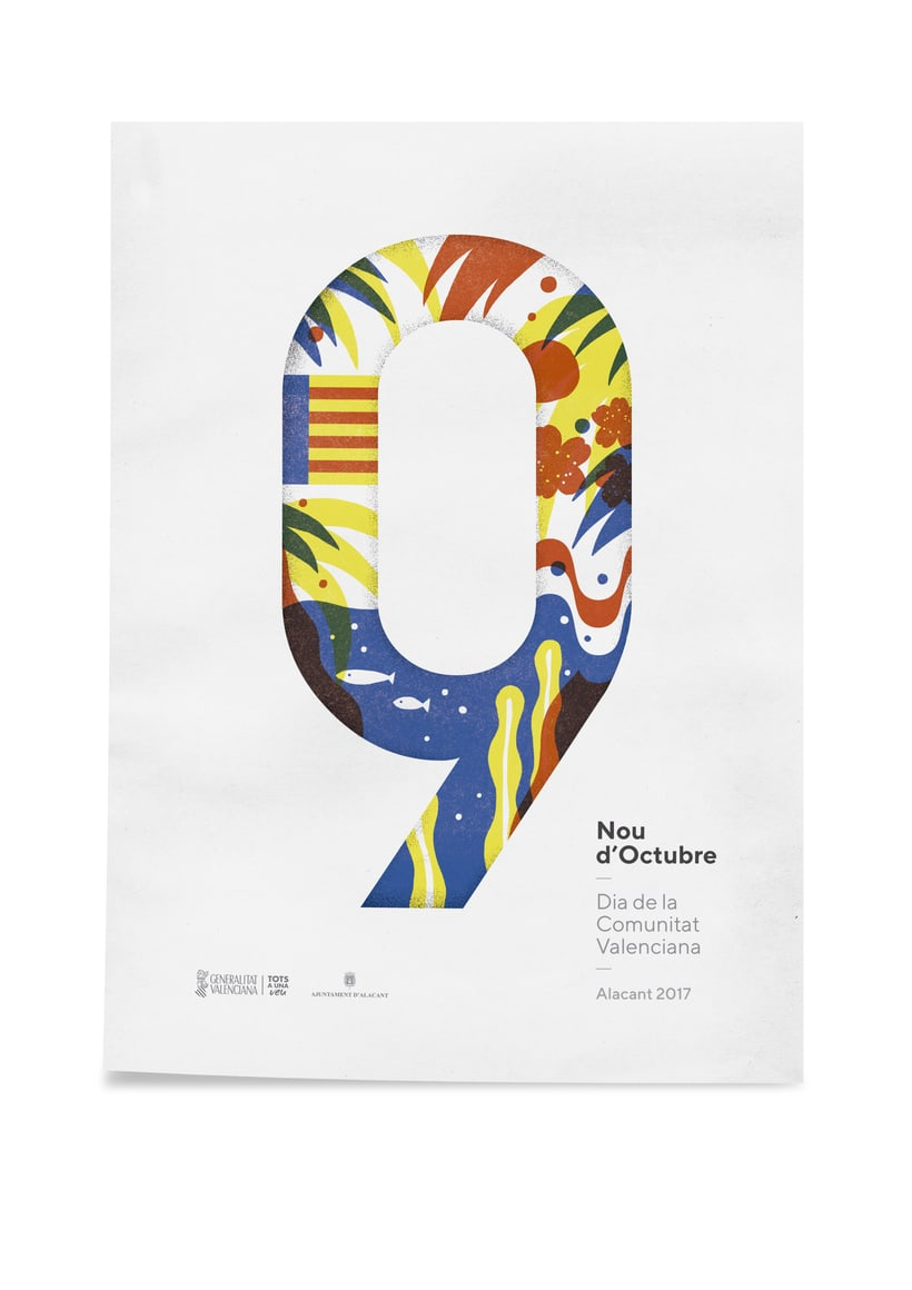 Diseño de los 4 carteles que conmemoran el 9 d'Octubre por Bestiola & Malota: Generalitat y variaciones para las 3 provincias. Esperamos que os gusten. <3 2