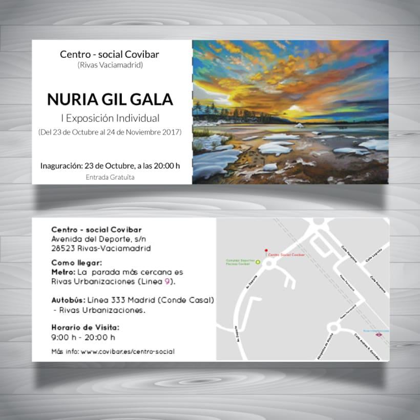 Invitaciones exposición de arte 3