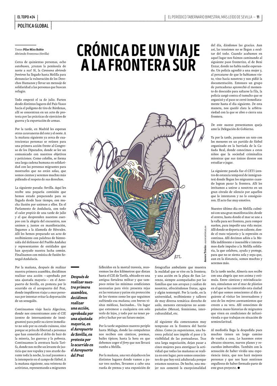 Frontera Sur - ilustración editorial para El Topo #24 0