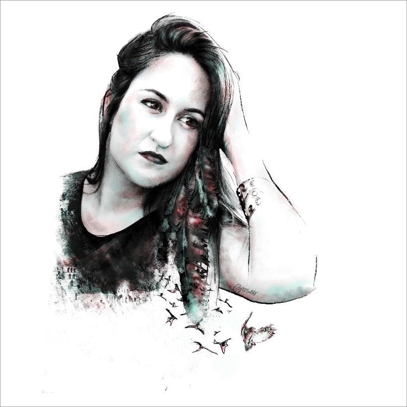 Mi Proyecto del curso: Retrato ilustrado con Photoshop, Celia Parriego 0