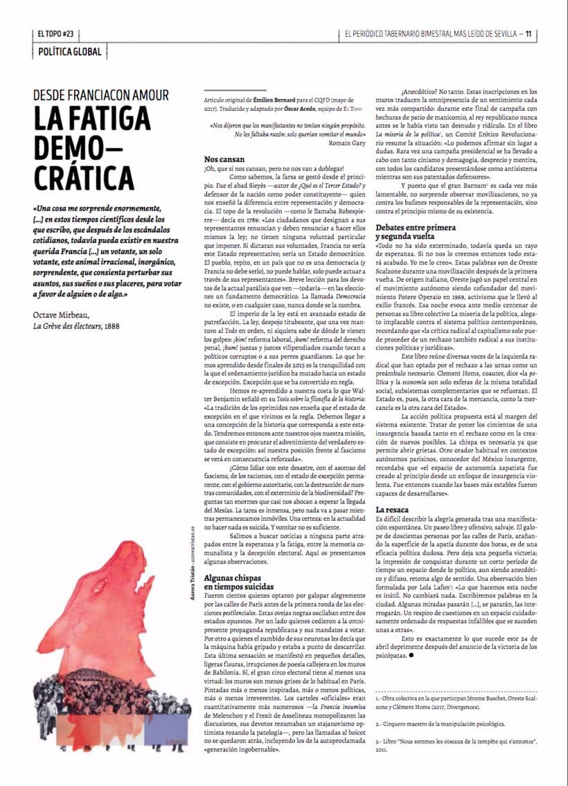 La fatiga democrática - EL Topo #23 1