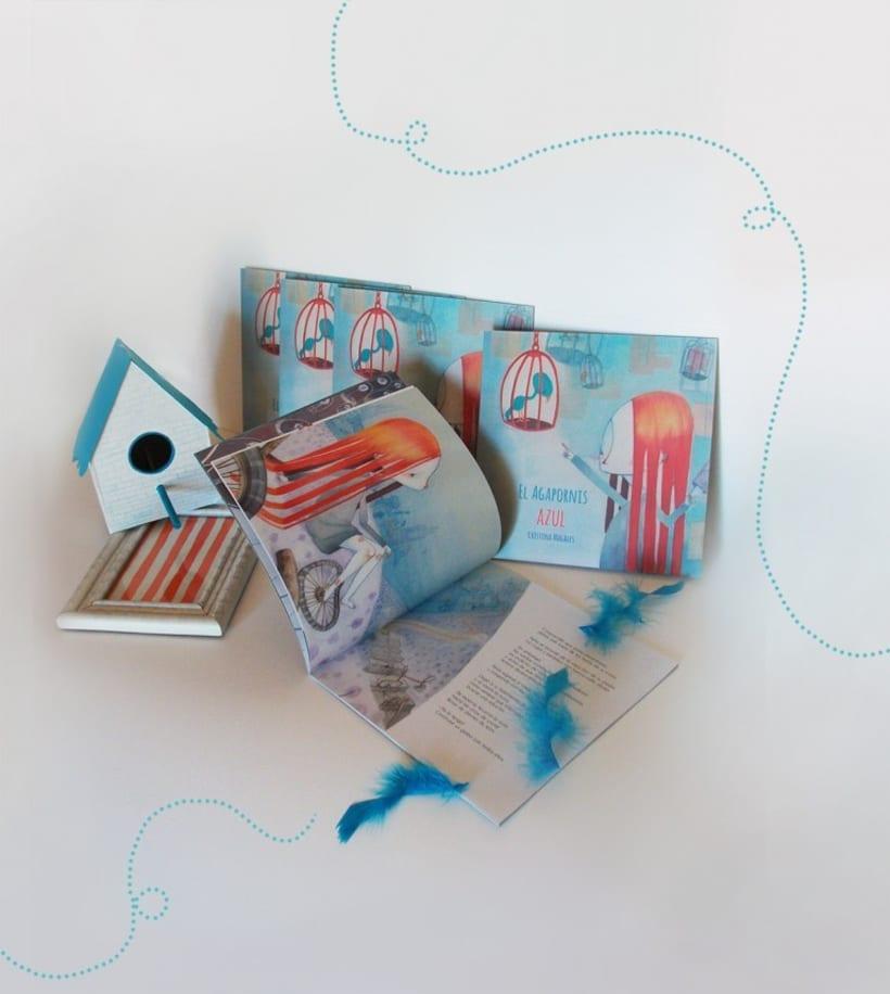 Álbum ilustrado el Agapornis Azul 3