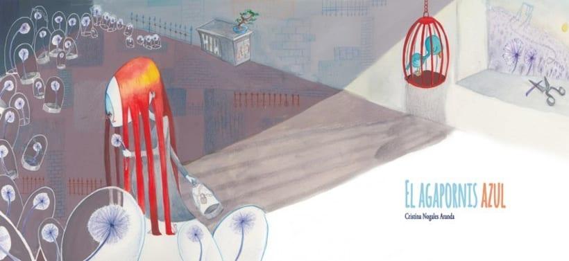 Álbum ilustrado el Agapornis Azul 4