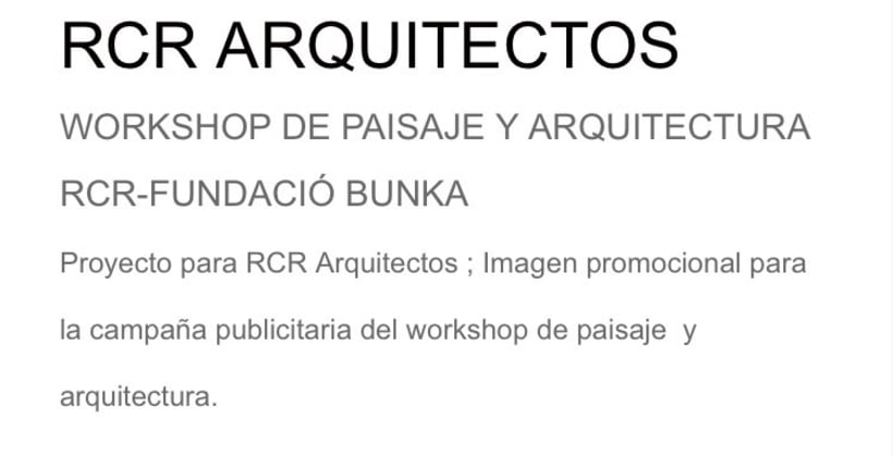 RCR ARQUITECTOS WORKSHOP  -1