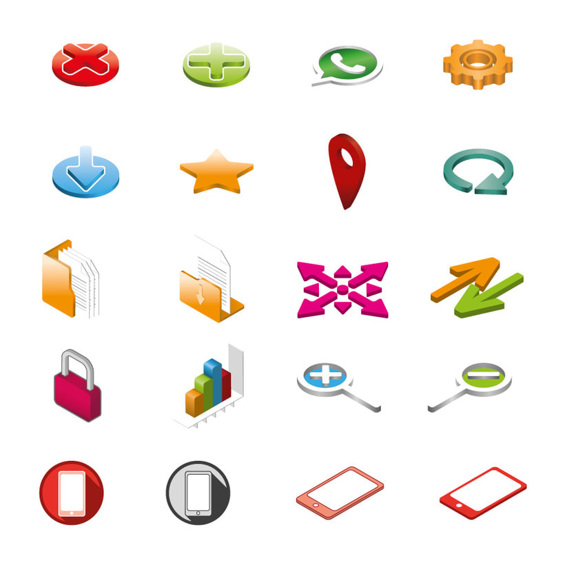 Iconos 3D. -1