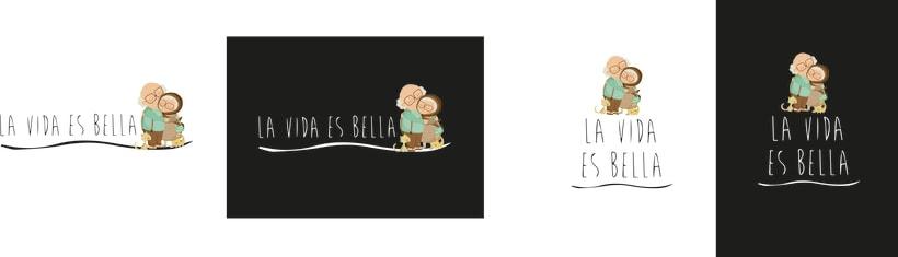 """Logotipo Residencia de Ancianos """"La Vida es Bella"""" -1"""