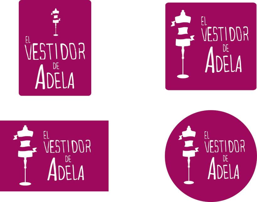 """Logotipo tienda de ropa """"El Vestidor de Adela"""" y app 0"""