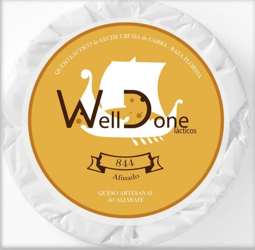 """Rediseño del logotipo de la marca """"Welldone Lácticos"""" y sus posibles app 1"""