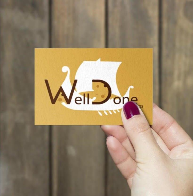 """Rediseño del logotipo de la marca """"Welldone Lácticos"""" y sus posibles app 2"""