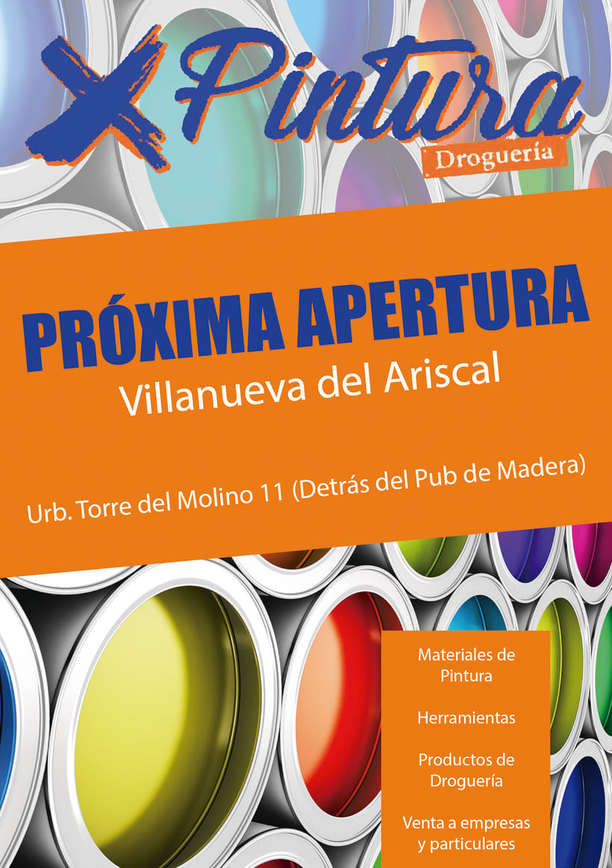 """Flyer apertura tienda de pinturas """"XPintura"""" -1"""