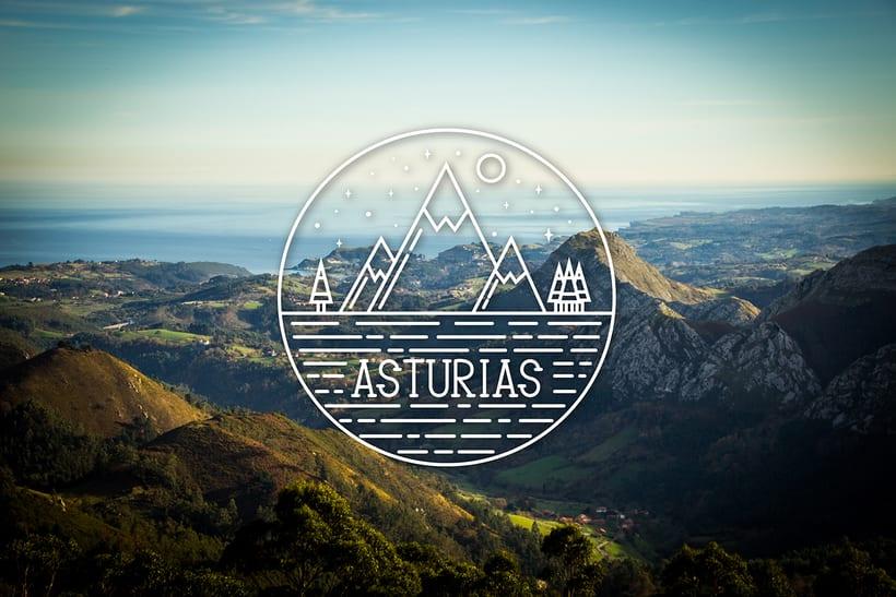Rediseño de Asturias con una foto de @coudlain 0