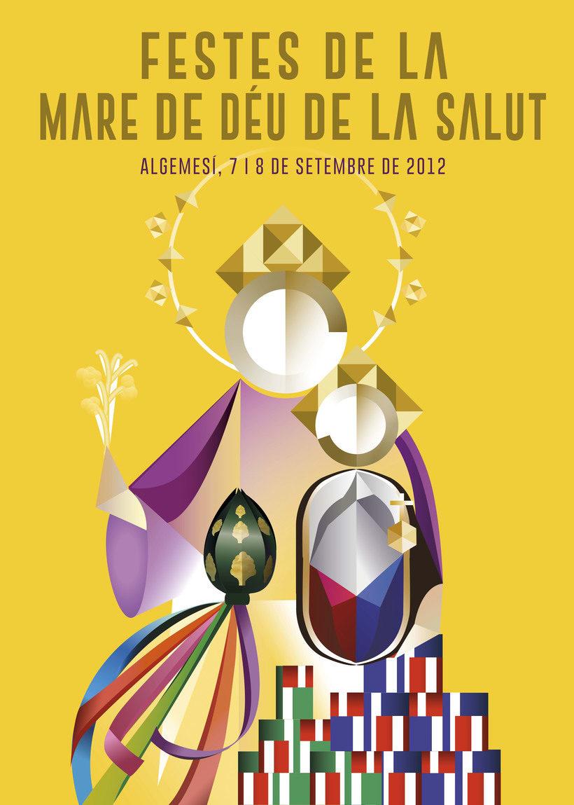 Cartel Fiestas Algemesí 2012 0