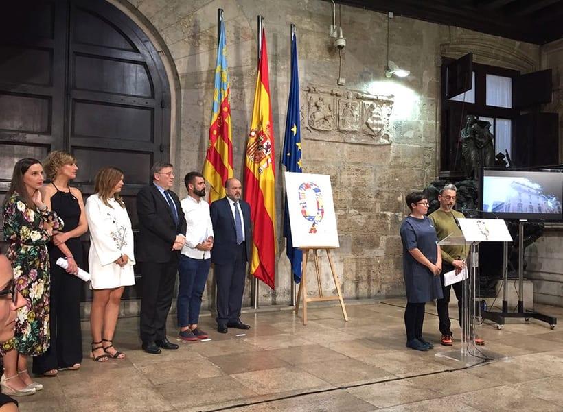 Diseño de los 4 carteles que conmemoran el 9 d'Octubre por Bestiola & Malota: Generalitat y variaciones para las 3 provincias. Esperamos que os gusten. <3 6