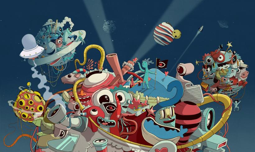 """Ilustración para el """"Confe"""" de Gran Hermano Revolution (18) 3"""