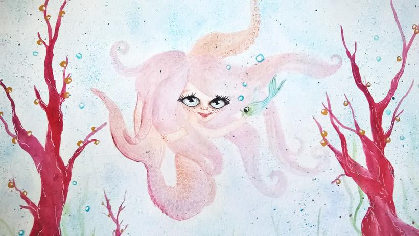 Mi Proyecto del curso: Introducción a la ilustración infantil. La sirenita. -1