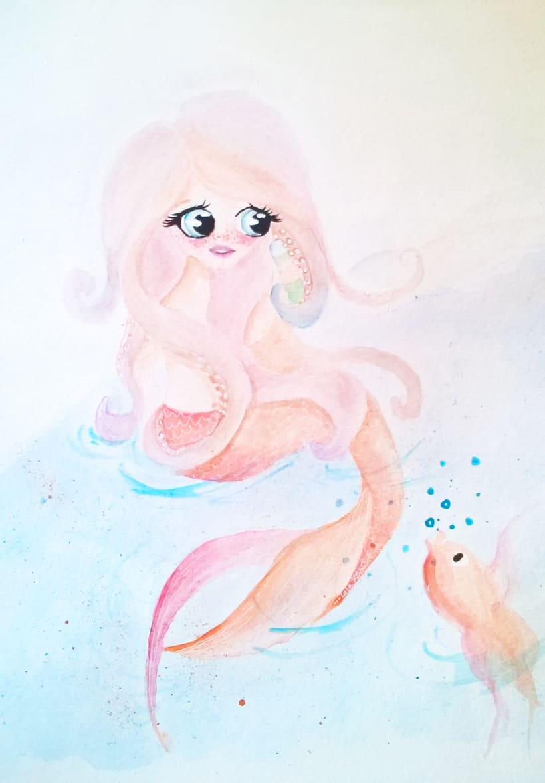 Mi Proyecto del curso: Introducción a la ilustración infantil. La sirenita. 0