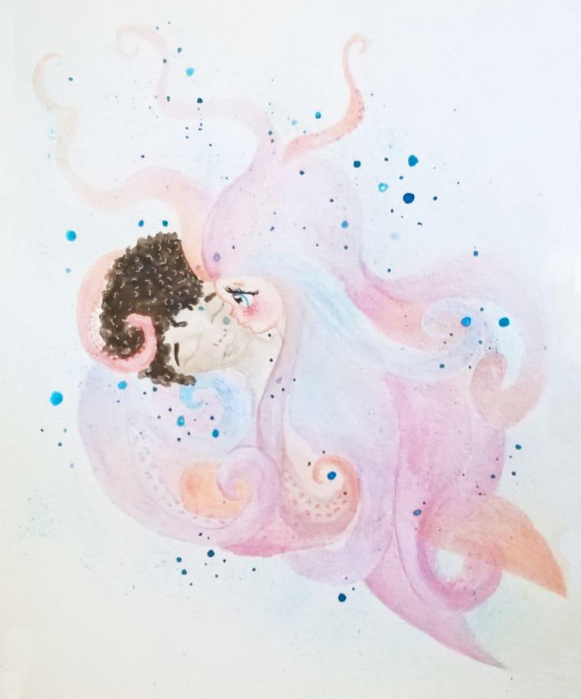 Mi Proyecto del curso: Introducción a la ilustración infantil. La sirenita. 2