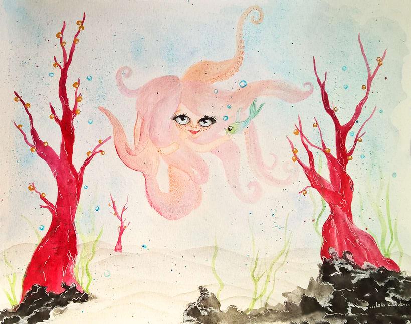 Mi Proyecto del curso: Introducción a la ilustración infantil. La sirenita. 3