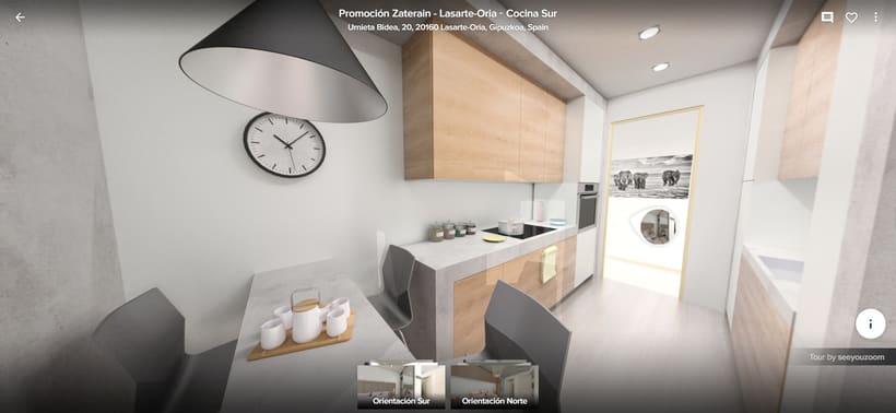 Tour virtual 360º apartamentos Zatarain 3