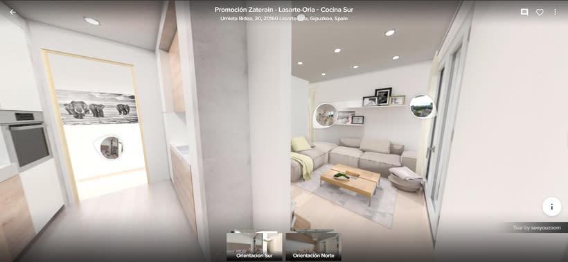 Tour virtual 360º apartamentos Zatarain 4