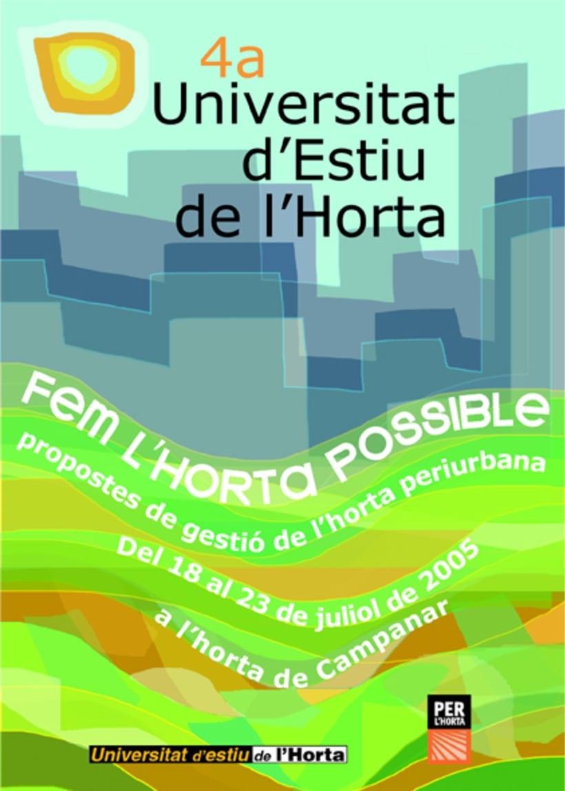 Cartel Universitat d'estíu de l'horta (València) 0