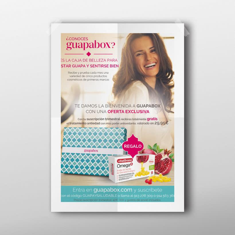 Página publicitaria de Guapabox para la revista 'Gente saludable' 0
