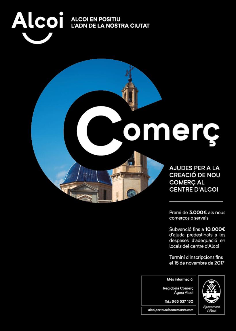 Cartel promoción nuevos Comercios para el Centro de Alcoi -1