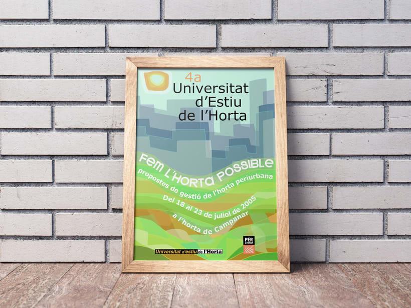 Cartel Universitat d'estíu de l'horta (València) 1