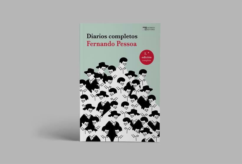 """Portada para cubierta de los """"Diarios completos"""" de Fernando Pessoa 0"""