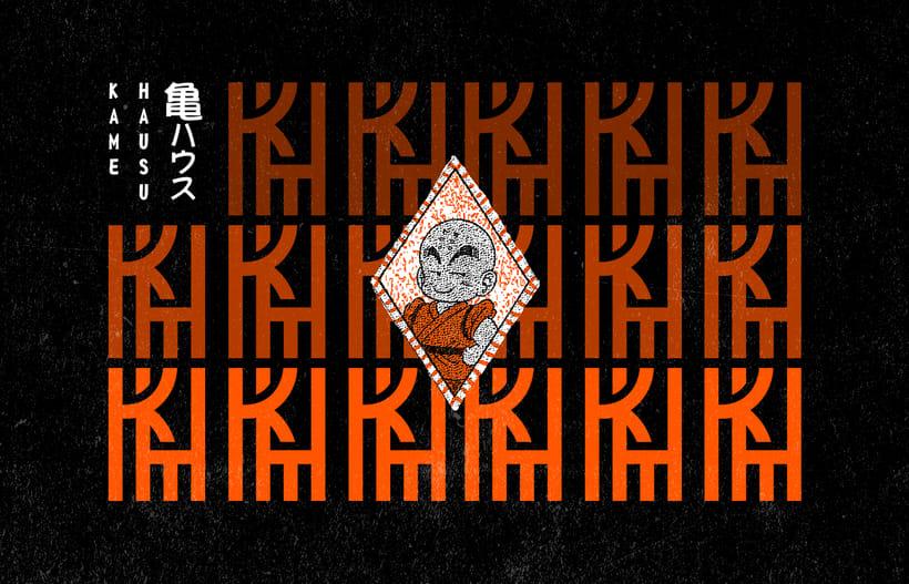 Mi Proyecto del curso: Diseño de monogramas con estilo KAME HAUSU 4