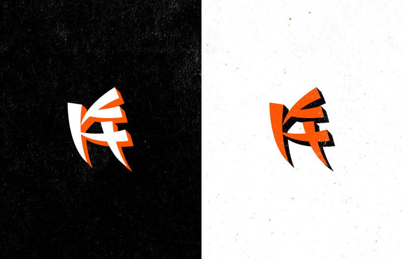 Mi Proyecto del curso: Diseño de monogramas con estilo KAME HAUSU 16