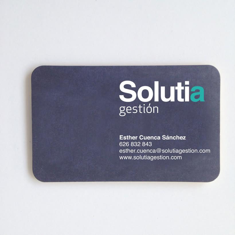 Identidad corporativa para; SOLUTIA gestión. 1