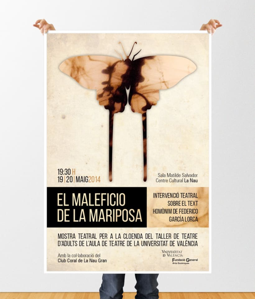 Diseño cartel espectáculo teatral -1