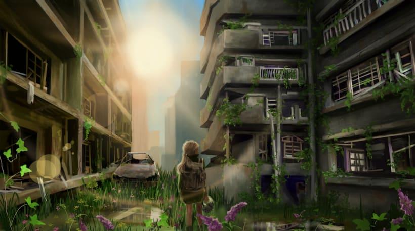 Skyland. concept art para un videojuego 1