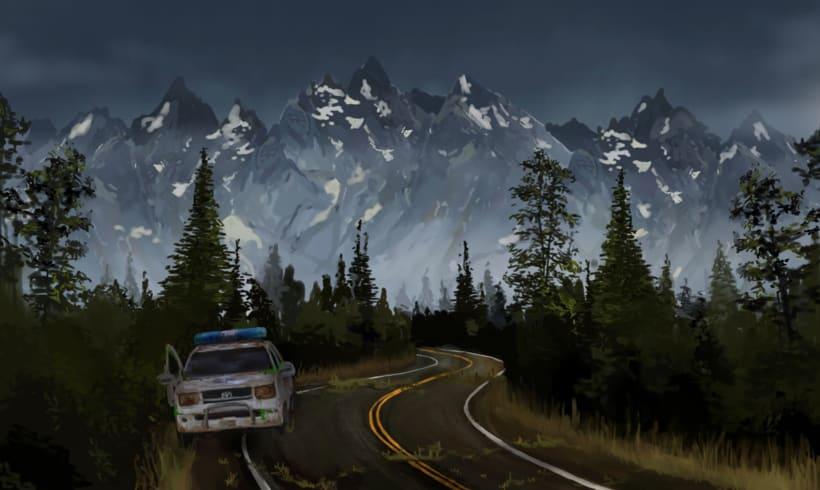 Skyland. concept art para un videojuego 2