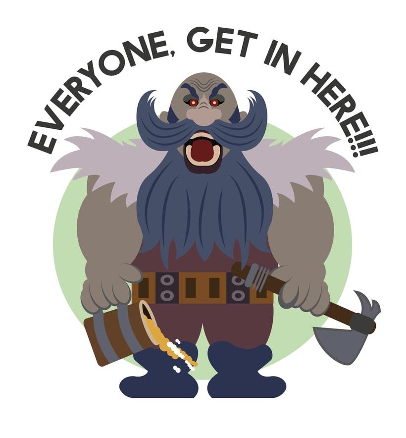 Grim Patron. Personaje de Hearthstone. Diseño para camisetaNuevo proyecto 0