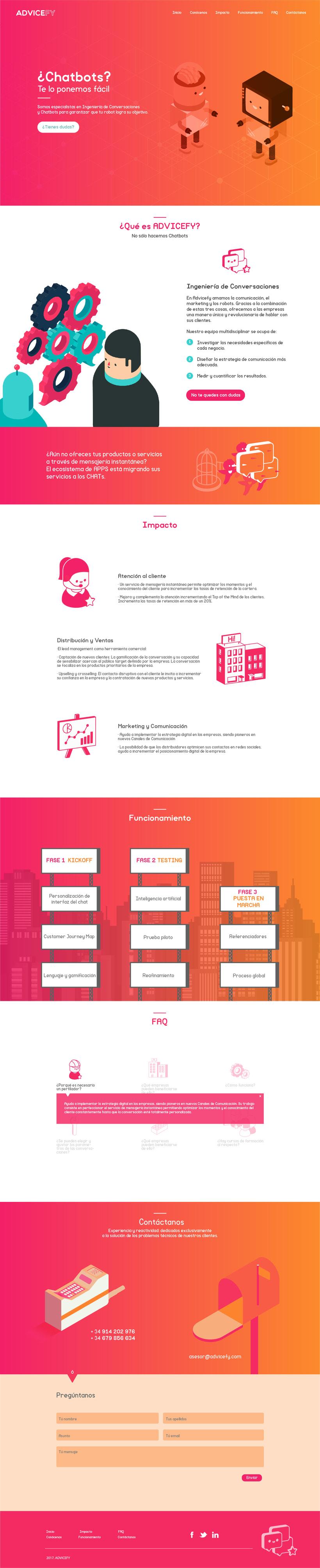 Diseño de UX para la web de ADVICEFY  0