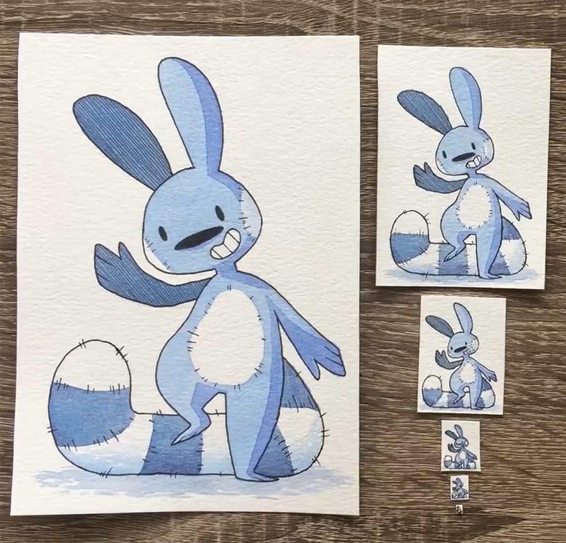 ¿Cuál es la ilustración más pequeña que has dibujado? 3