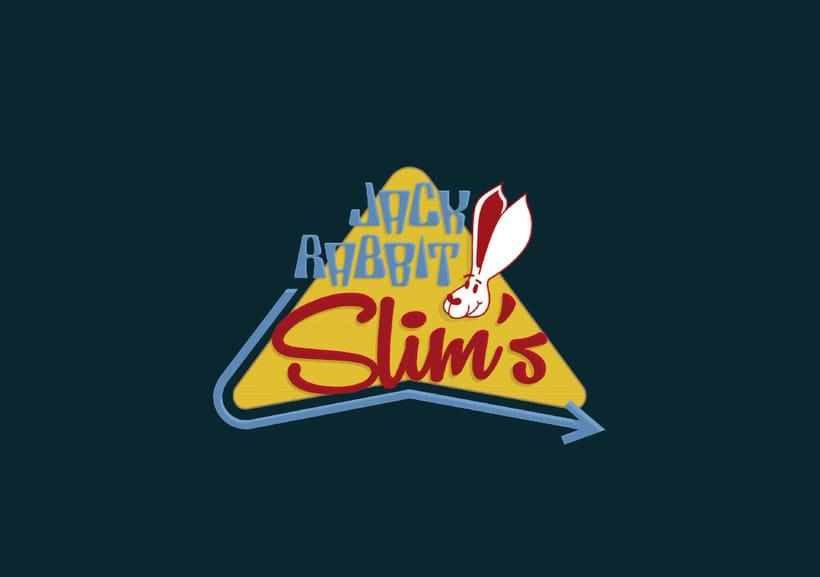 Mi Proyecto del curso: Tipografía y Branding: Diseño de un logotipo icónico Jack Rabbit Slim's -1