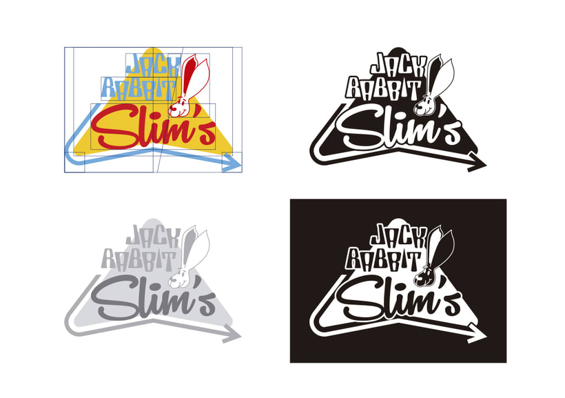 Mi Proyecto del curso: Tipografía y Branding: Diseño de un logotipo icónico Jack Rabbit Slim's 3
