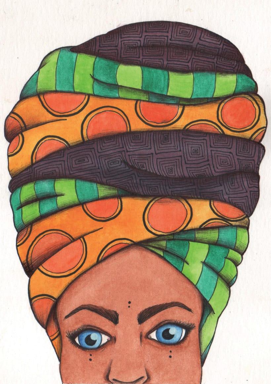 Turbante con arte (libretas de carton reciclado y pintadas a mano) 6