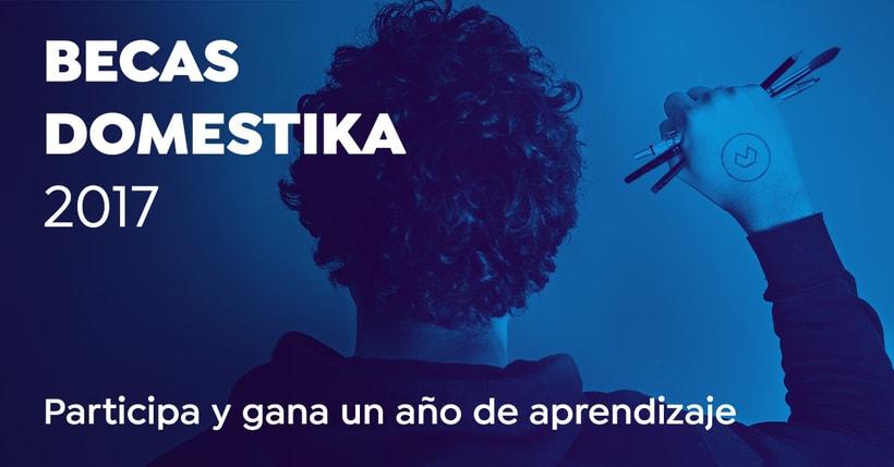 Becas Domestika 2017. Participa y gana un año de aprendizaje. 0