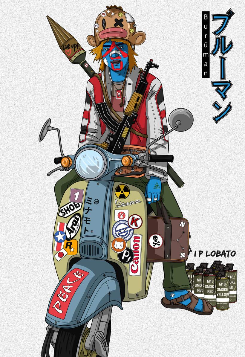 Live up!!  (Burūman series) · Illustration + Line art 0